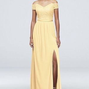 Bridesmaid canary dress